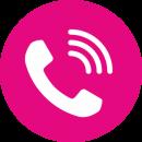 Anruf Icon Telefonhörer magenta