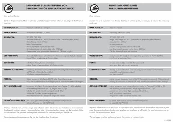 Datenblatt Sublimation